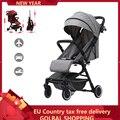 Легковесная складная детская коляска 2 в 1 для детей  можно садится и ложится  Система путешествий  коляска  bebek arabasi