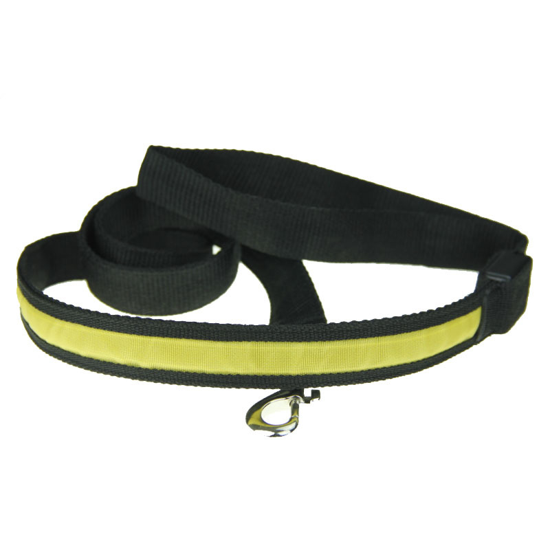 Pet Led2. 5 Black Edge No Map Hand Holding Rope Dog Drag Rope Flash Shining Sling Traction Belt