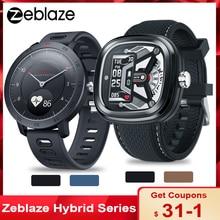 Zeblaze hibrid 2 çift akıllı saat Zeblaze hibrid akıllı saat kalp hızı kan basıncı monitörü 5ATM su geçirmez spor Smartwatch