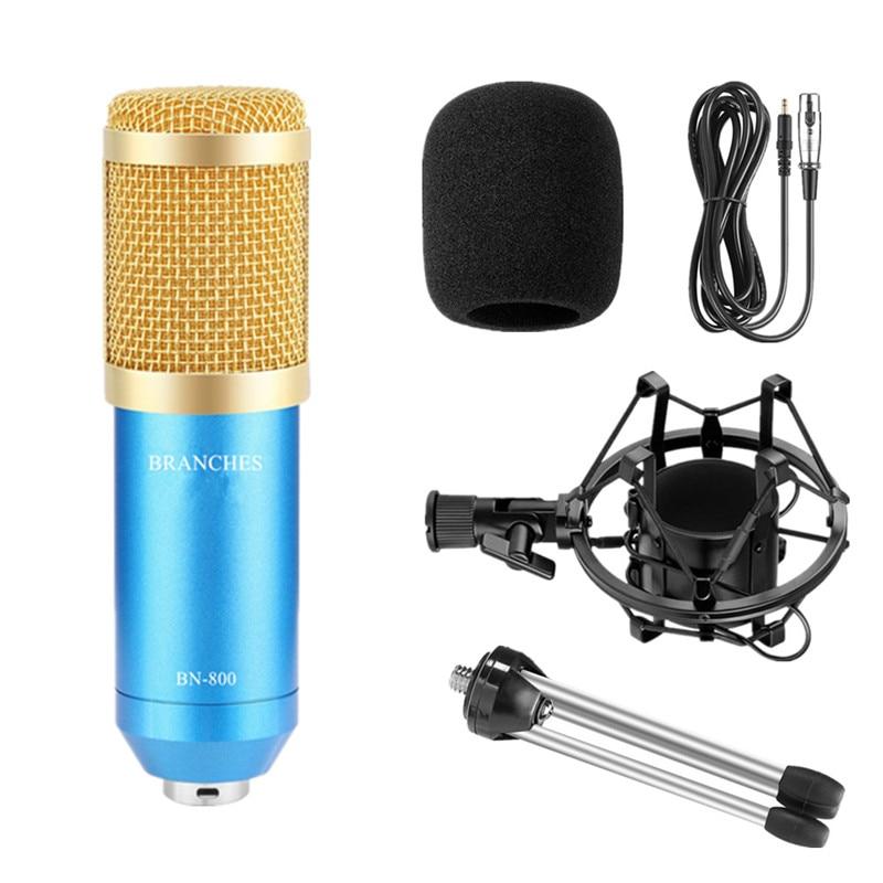 Микрофон BM 800 для караоке BM800, Студийный конденсаторный микрофон, микрофон для KTV, радиовещания, пения, записывающего компьютера