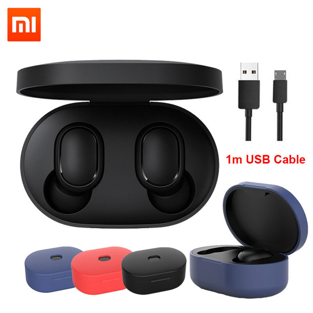 Оригинальные беспроводные наушники Xiaomi Redmi Airdots Xiaomi, голосовое управление, Bluetooth 5,0, шумоподавление, сенсорное управление