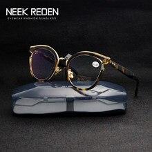 Для мужчин синий анти-светильник очки женские металлический каркас увеличительные защитные очки в стиле ретро женские пресбиопии бокалы д...