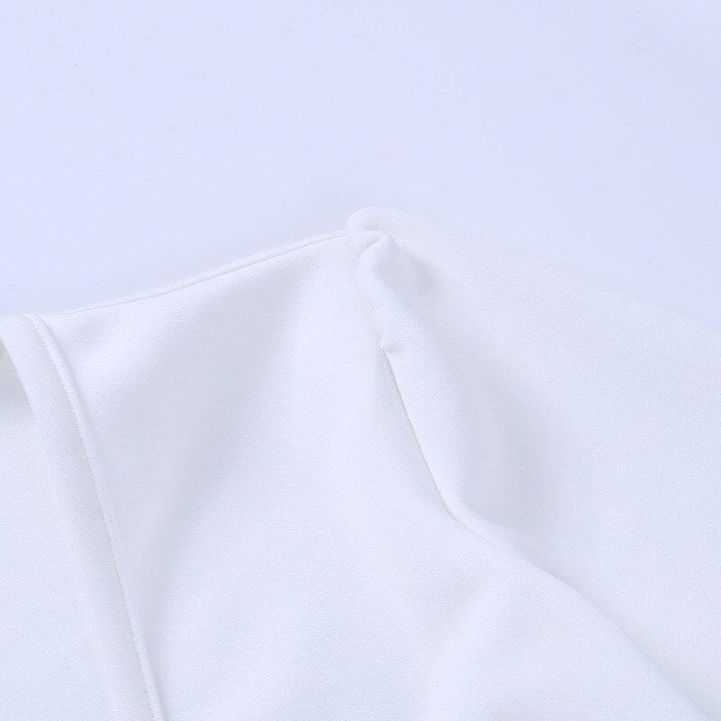 long sleeve white dress13