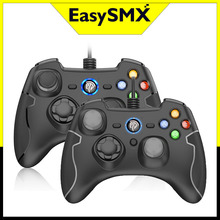 2 Chiếc EasySMX ESM 9100 Có Dây Chơi Game Máy Tính Điều Khiển Cần Điều Khiển Cho Máy Tính PS3 Android Android TV Box Tay Cầm Chơi Game (đen + Xám)
