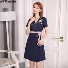 Svitania Women Beauty Salon Work Dress Health Care Uniform W