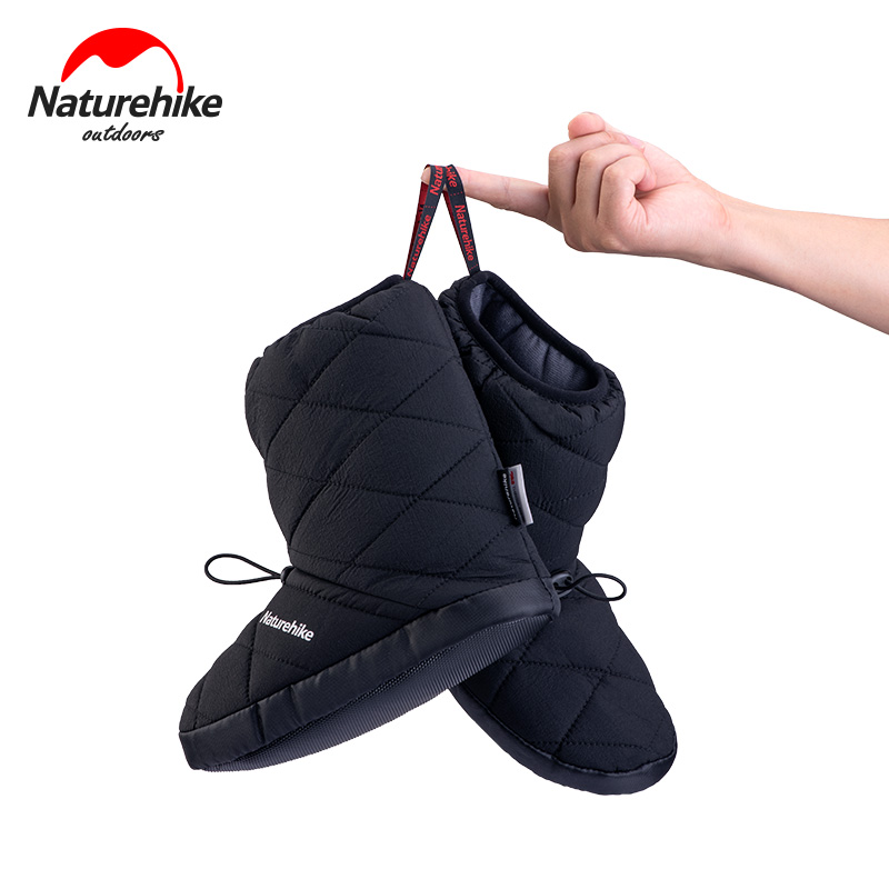 Naturehike High Tube Warm Camp Shoes 220g Thinsulate Boots Portable Windproof Waterproof Camping Home Indoor Light Cotton Shoes