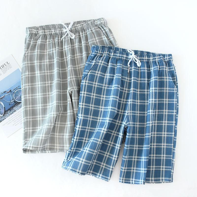 100% Cotton  Soft Sleep Pajama Pants Pyjama Trousers Plaid Pants 1290