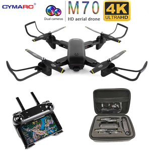 "Image 1 - Teeggi M70 RC Drone עם מצלמה HD 4K מצלמה 1080P FPV Selfie Dron Quadcopter מקצועיים לעומת E58 VISUO XS809HW XS809S מל ""טים"
