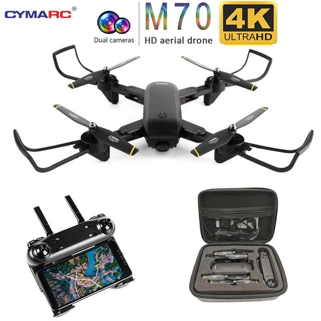 "Teeggi M70 RC Drone עם מצלמה HD 4K מצלמה 1080P FPV Selfie Dron Quadcopter מקצועיים לעומת E58 VISUO XS809HW XS809S מל ""טים"