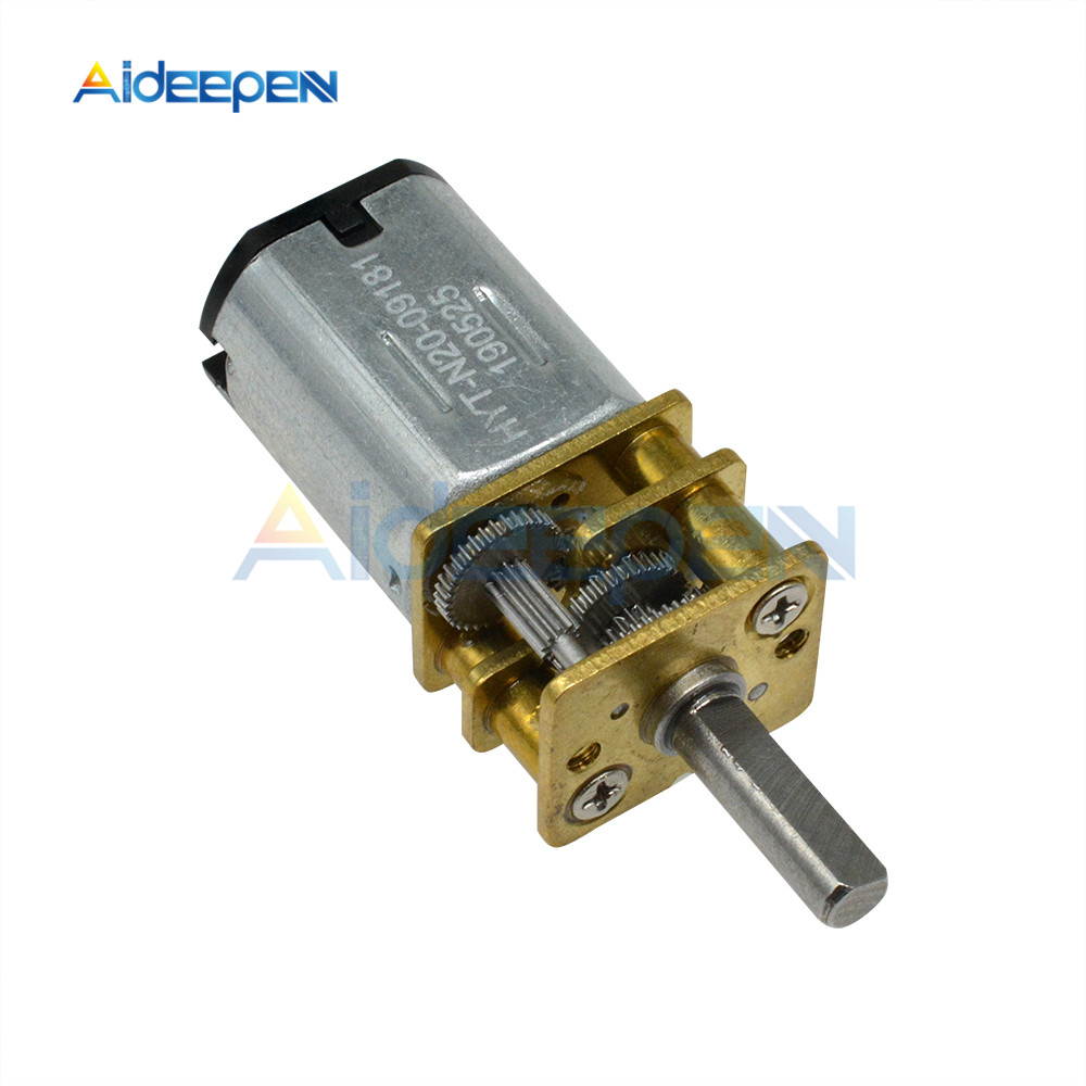 GA12-<font><b>N20</b></font> DC 3V 6V 12V Multiple Type Micro DC <font><b>Gear</b></font> Reduction <font><b>Motor</b></font> Low Speed <font><b>Motor</b></font> Deceleration <font><b>Motor</b></font> 15RPM 600RPM 100RPM 1000RPM image