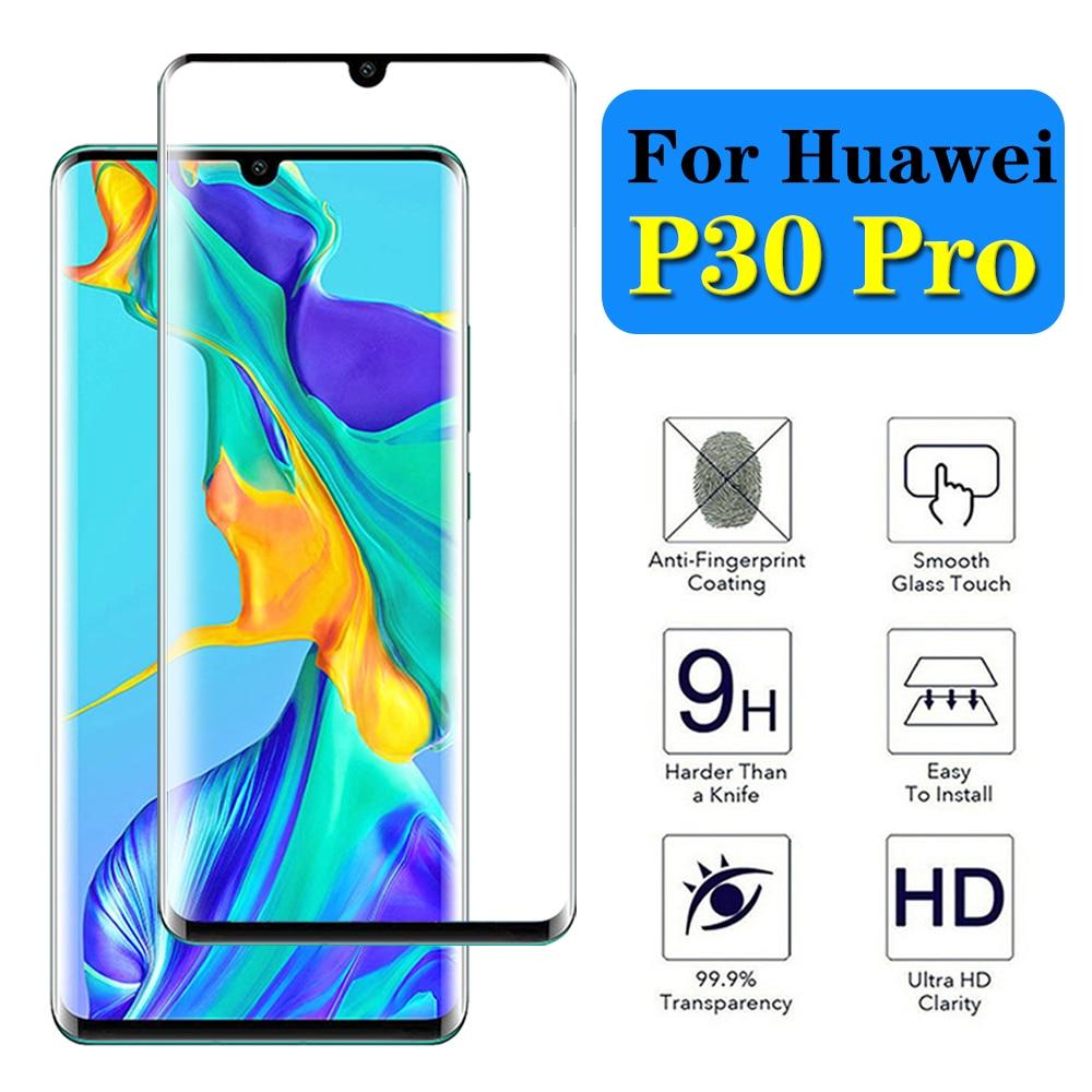 Huawei P30 Screen Protector SONWO HD Clear Tempered Glass Screen Protector for Huawei P30 Bubble Free 1-Pack
