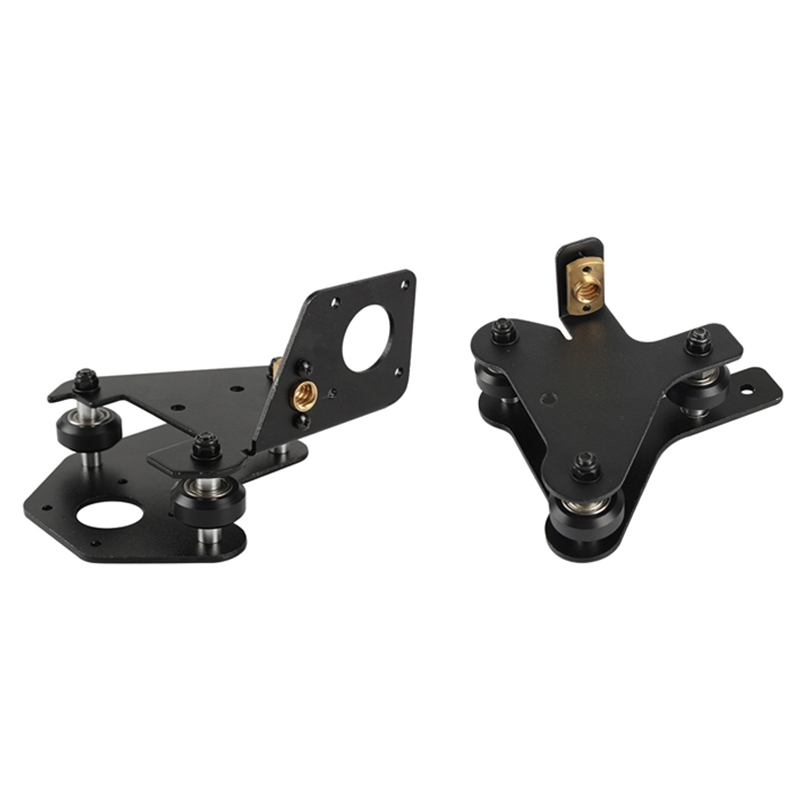 GTBL For 3D Printer Parts CR-10 S4/S5 X Axis Motor Mount Bracket Right/Left X-Axis Front/Back Motor Mount Plate With Wheels T Nu