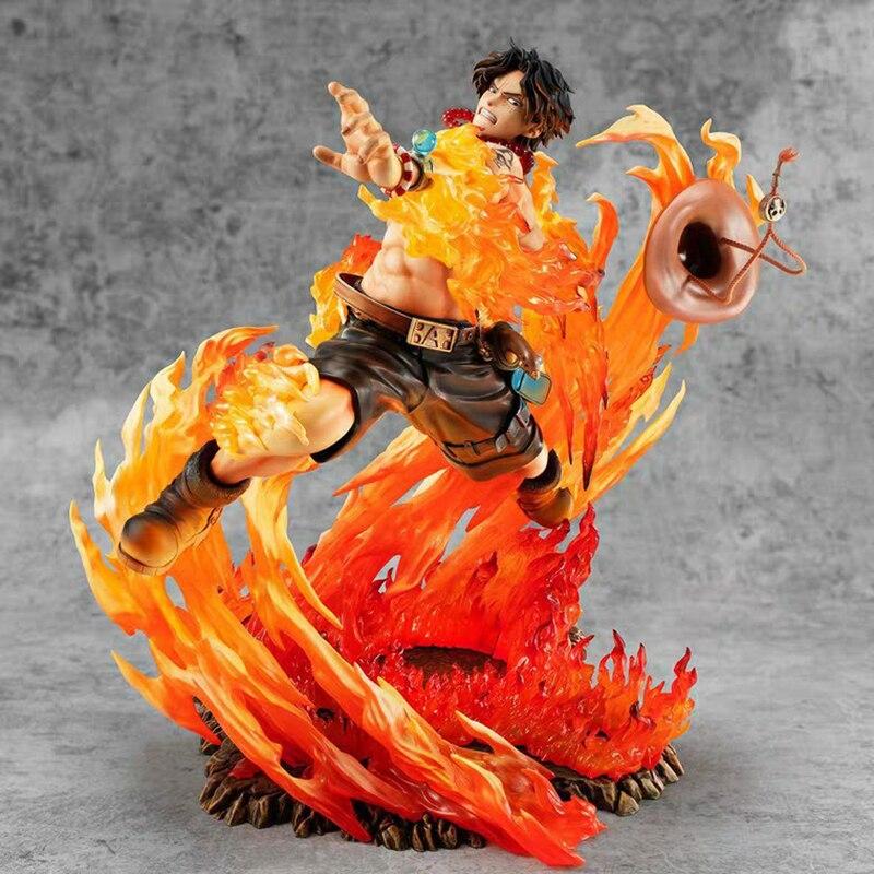 23 см (Япония) Одна деталь Portgas D Ace фигурку Аниме ПОП-ПВХ 15th Юбилей Коллекция Модель Куклы Игрушки для мальчиков подарки