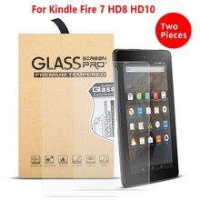 2 шт./лот Ультра прозрачная защитная пленка для экрана funda для Amazon Kindle Fire HD 7 8 10 закаленное стекло