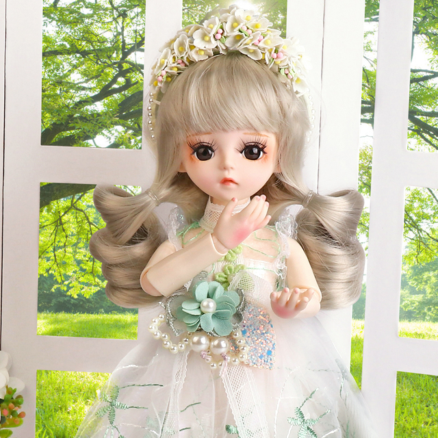 UCanaan BJD Doll 1/6 SD Dolls 30CM Girls Dress UP Toys With Full Outfits Dress Wig Shoes Makeup Best Gifts For Girls 4