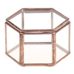 Geometryczne szklane terrarium pudełko pudełko z biżuterią szkło doniczka na sukulenty Deco w kształcie sześciokąta w Doniczki i skrzynki do kwiatów od Dom i ogród na