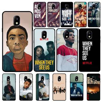 FHNBLJ When They See Us Phone Case For Samsung Galaxy J7 J6 J6PLUS J8 J4 J4Plus J7DUO J7NEO J2 J5 J6 J7 Prime image