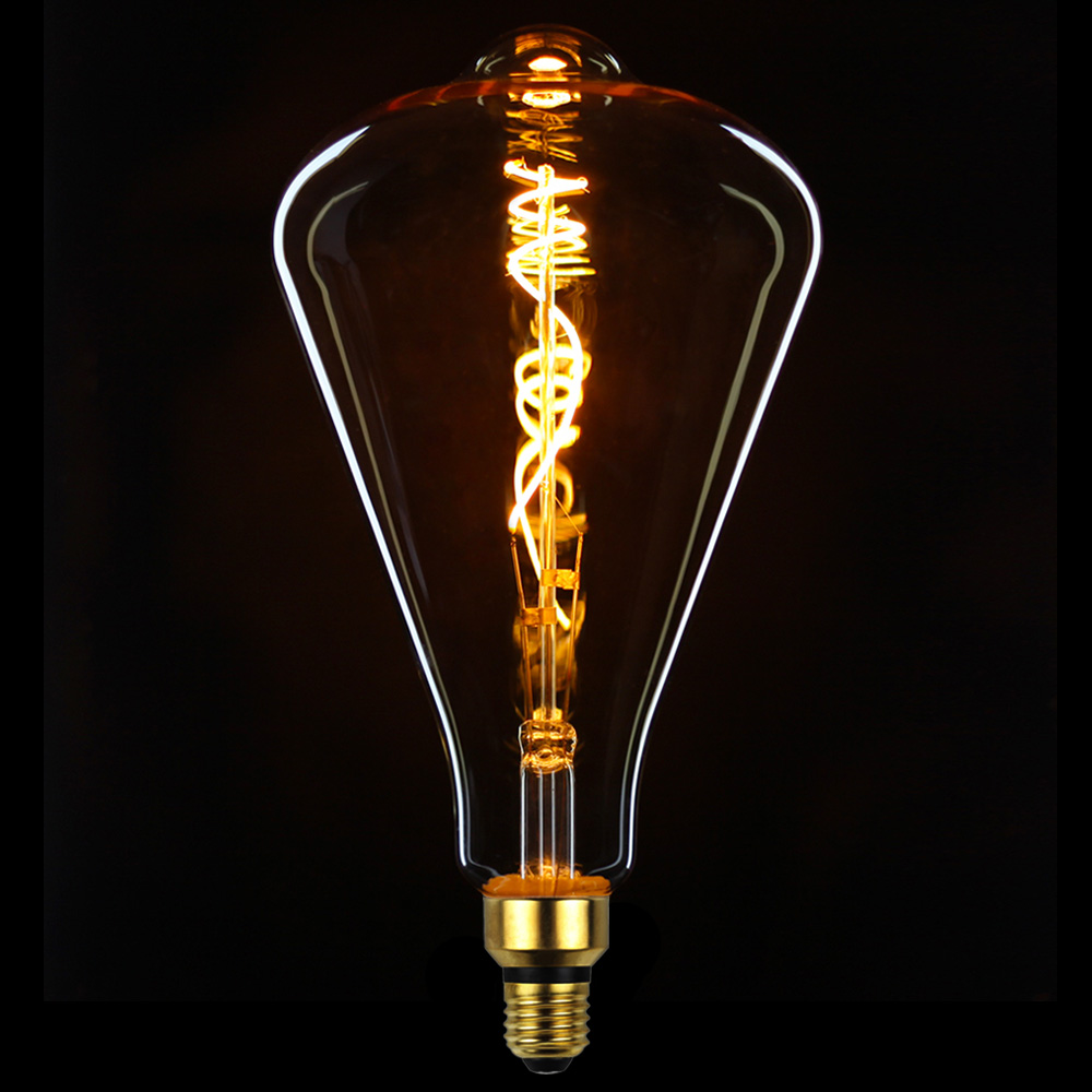 Bombillas Edison TIANFAN ST164, bombilla Led gigante, filamento espiral Vintage 4W, Bombilla decorativa regulable Matamoscas eléctrico multifunción LED, matamoscas, matamosquitos, matamoscas, matamosquitos, sin batería