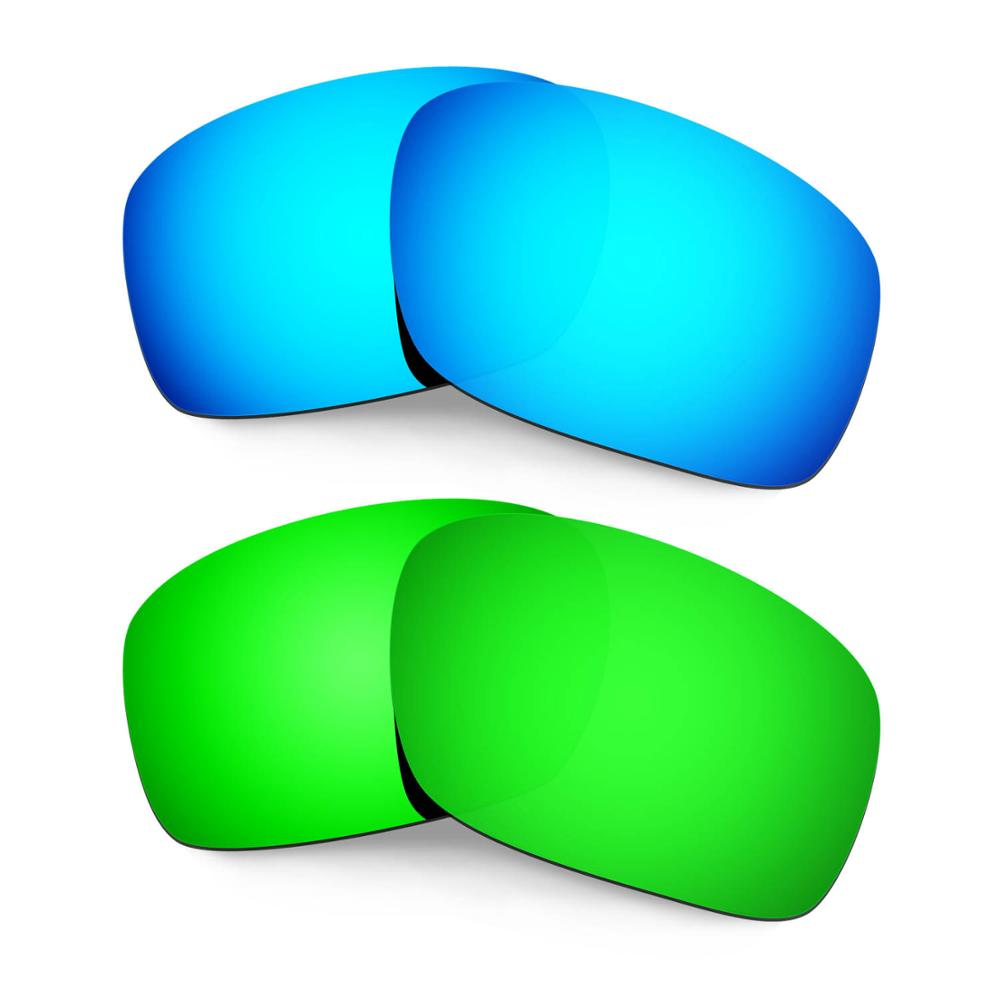 HKUCO For Scalpel Sunglasses Replacement Polarized Lenses 2 Pairs - Blue&Green