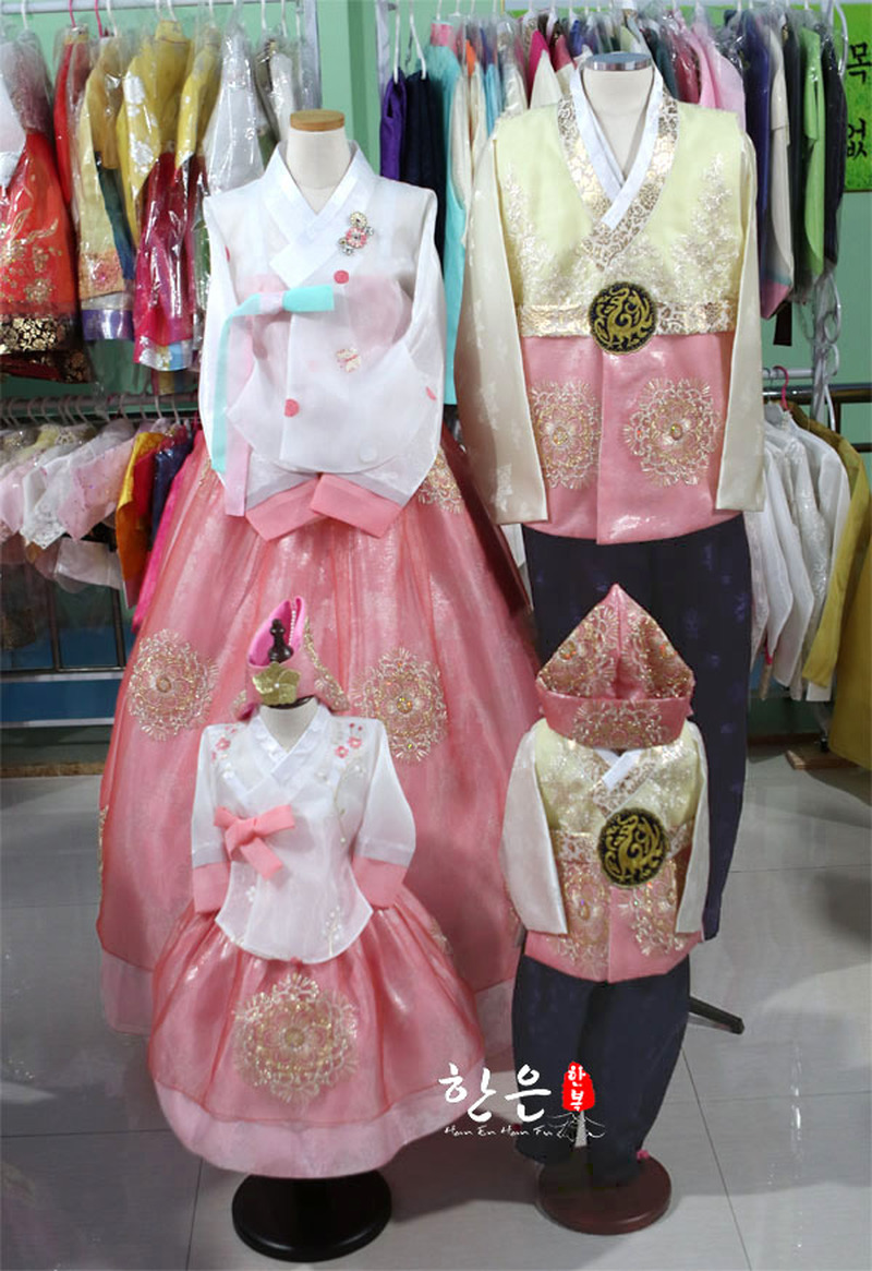 South Korea Imported Fabric / Wedding Family Suit Hanbok / Couple Hanbok / National Costume