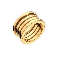 Hot Sale Original Design Titanium Steel Spring Narrow Ring for Women Men Couple Wedding Engagement Ring Steel Jewelry