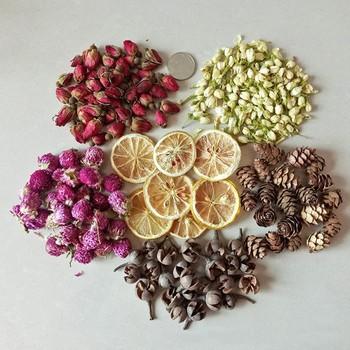 Świeca dekoracja kwiat liść cytryny świeca płatek DIY dokonywanie materiał aromaterapia czysty wosk sojowy naturalne składniki 2020 tanie i dobre opinie candle material 1-10g dried flowers lemon