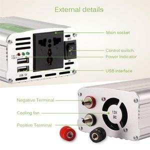 Image 3 - Onever 500W מהפך 12 V 220 V מתח שנאי DC ל ac 12 V כדי 220 V כוח ממיר עם USB הכפול מטען לרכב מתאם חם