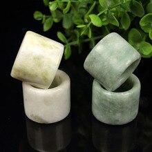 Натуральный зеленый нефрит кольцо жадеит буддизм амулет Мода китайский Шарм ювелирные изделия ручной работы подарки на удачу для женщин и мужчин A85