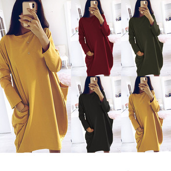 2020 nueva moda Otoño Invierno de la mujer de manga larga vestido...
