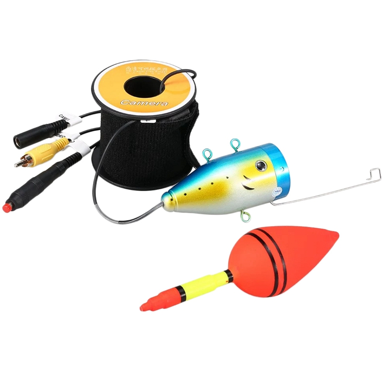 1200Tvl Underwater <font><b>Fishing</b></font> <font><b>Camera</b></font> 24 Leds Night Vision <font><b>Waterproof</b></font> Fish Shape Boat Ice With 15M Cable image