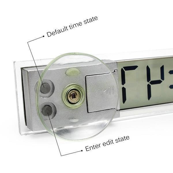 Auto Elektronische Sucker Uhr Ornaments Digitale LCD-Display