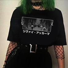 Atak na Titan Eyes koszulki z krótkim rękawem koszulki z krótkim rękawem koszulki z krótkim rękawem estetyczne japońskie Anime koszulki w stylu Harajuku tanie tanio CJ STAR CN (pochodzenie) O-neck regular Suknem Modalne Na co dzień Drukuj