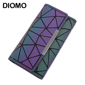 DIOMO 2020 Money Clip Female Trifold Wallet Slim Thin Women Purses Long Clutch Wallets Money Bag(China)