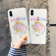 Transparent Dumbo Cute Cartoon Elephant circus Phone Cases Silicone for iPhone 11 Pro Max X XS XR case 8 7 6 6s Plus fundas