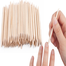 Nail Beauty Wooden Stick Dead Skin Push Nail Sign Double-headed Orange Stick,used for cuticle removal manicure tool for nail