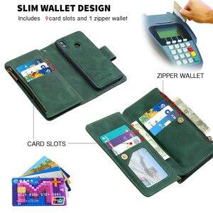 Image 4 - Huawei P 스마트 2020 지퍼 지갑 카드 커버에 대 한 자기 가죽 지갑 케이스 Y5 Y6 Y7 Y9 프라임 2019 전화 케이스 Coque