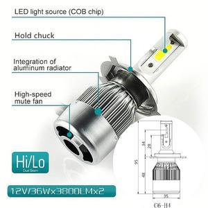 Muxall H15 H4 H7 H11 H1 H3 Светодиодная лампа 80 Вт 8000LM/комплект автомобильных фар дальнего света Canbus без ошибок для гольфа MLK 12V противотуманная фара