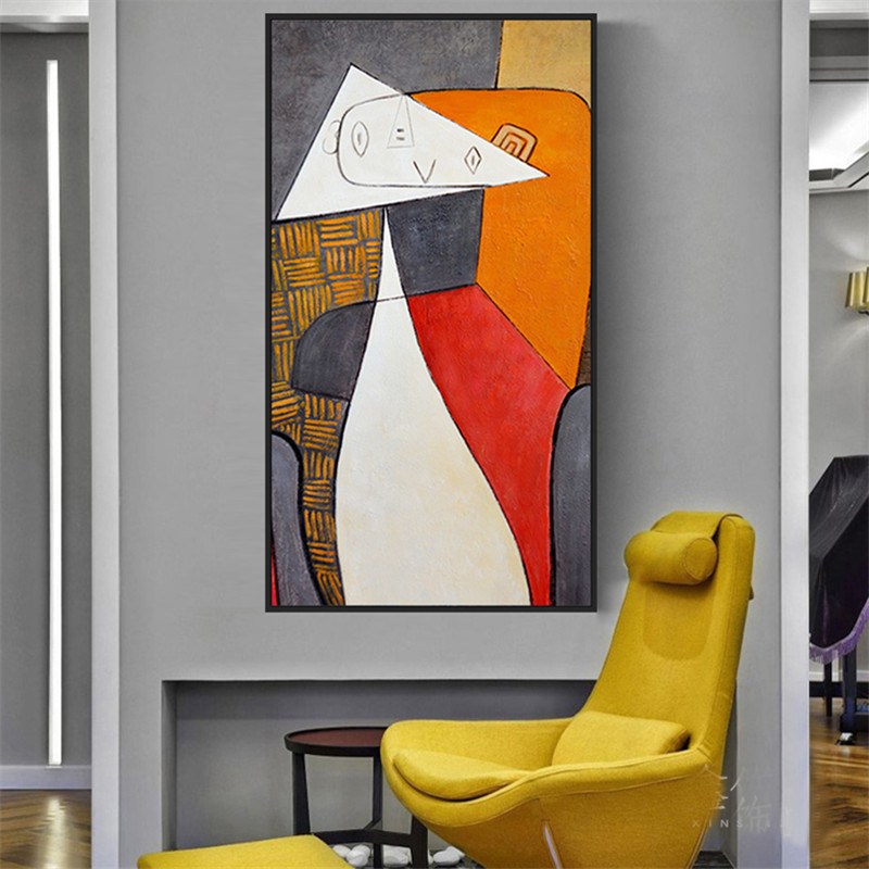Picasso Oil Paintings on Canvas Famous Abstract Art Reproductions Wall Posters and Print for Living Room Decor No Frame(China)