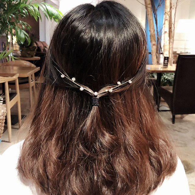 1PC New Arrival Fashion Headbands For Women Crystal Alloy Hairbands Back Holder Headwear