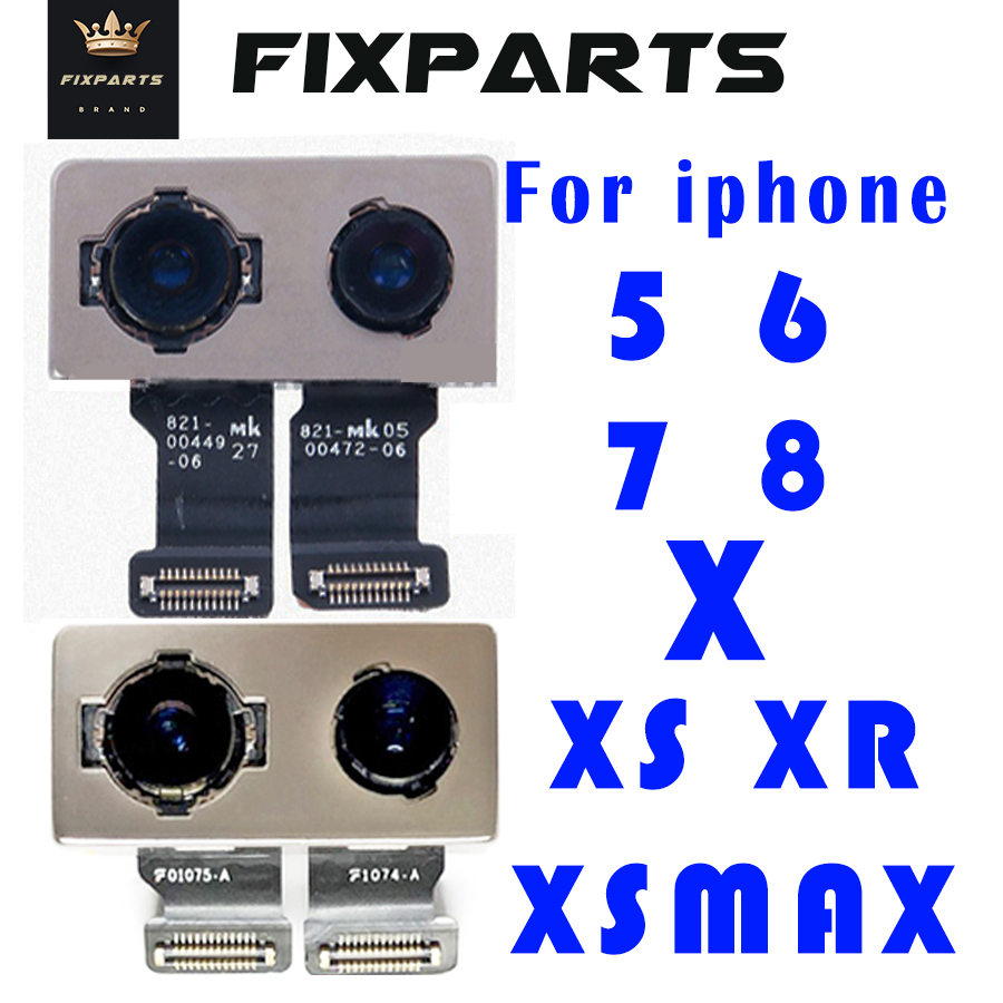 For Iphone X Back Big Rear Camera Board Flex Cable For IPhone 5 SE 5s 5c 6 6 Plus 6S 6S Plus 7 7 Plus 8 XS Max Camera Modules