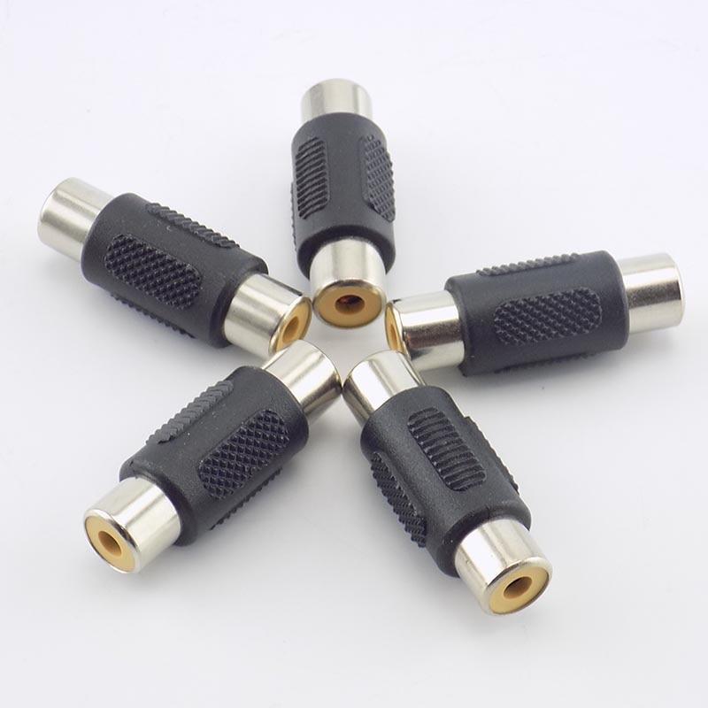 2/5Pcs CCTV RCA Female To RCA Female Coupler Connectors Audio Video Av Cable Jack Plug Adapter Plug For Cctv Camera System J17