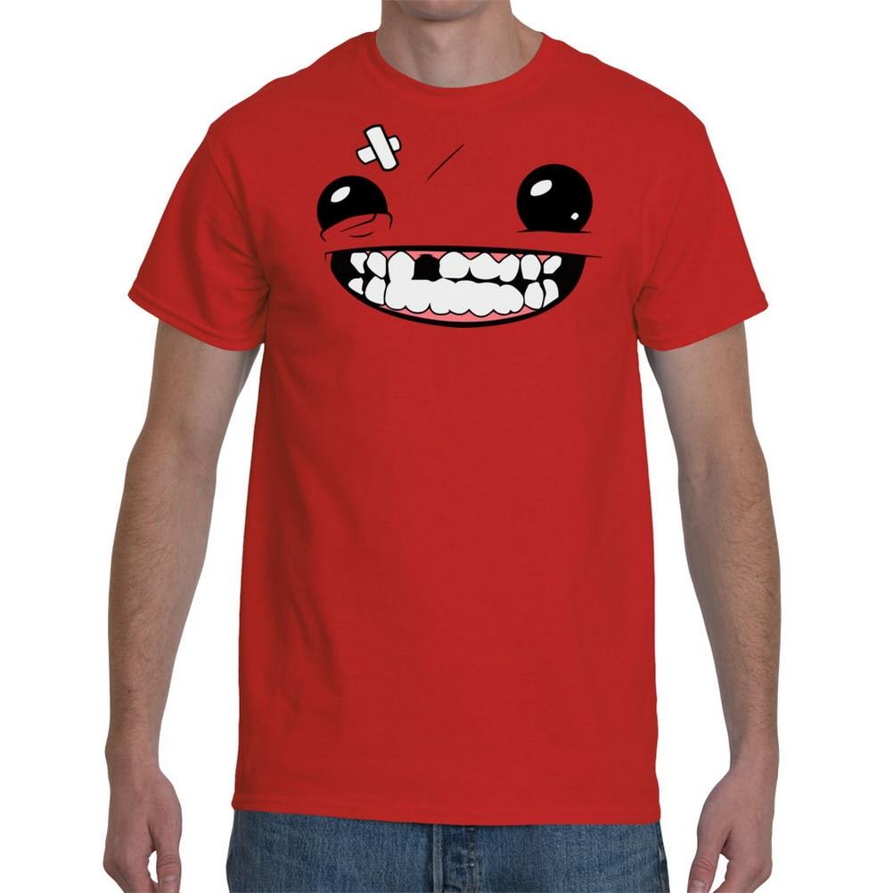Tops Tee T Shirt Super Meat Boy Retro O Neck Tops T-Shirt For Men Women Tshirt S-5XL Size 11 Colors