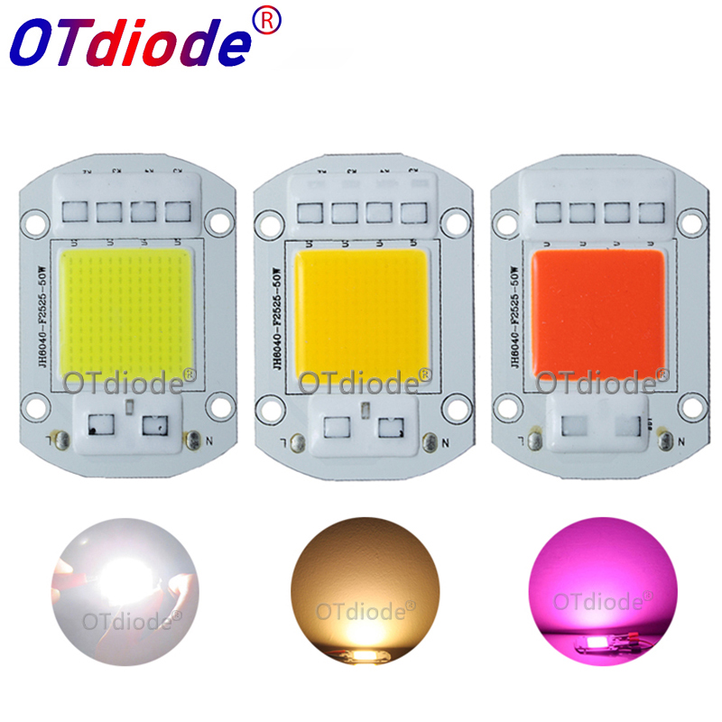 Smart IC AC COB LED Strip 20W 30W 50W 110V 220V Driverless DIY Flood Light Hight Power LED COB Diode Warm White Full Spectrum