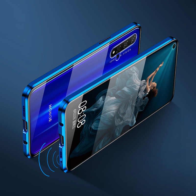 360 magnetische Adsorption Glas Fall Für Huawei P40 P30 Mate 30 20 Pro lite Für Honor 20 30 30S pro 9X Nova 5 6 7 Pro V30 Abdeckung