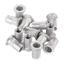 100шт/установить новый 1/4-20 алюминиевый фланец Nutserts гайки заклепки комплект Rivnut вставить Nutsert установить повторно мульти размер заклепки гайки