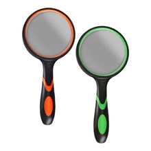 2021 New  2 Pack Magnifying Glass 10X 75MM Large Magnifying Lens Non-Slip Handled Magnifying Glass for Reading Small Prints