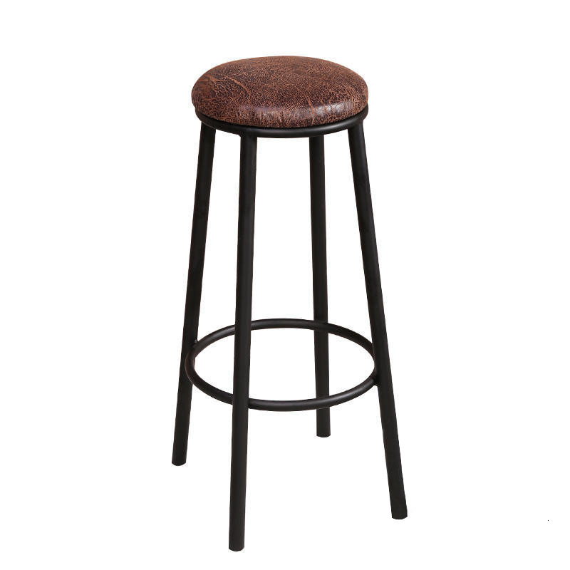 Antique Solid Wood Bar Chair American Leisure Coffee Bar Table Chair Combination High Stool Iron Outdoor Chair