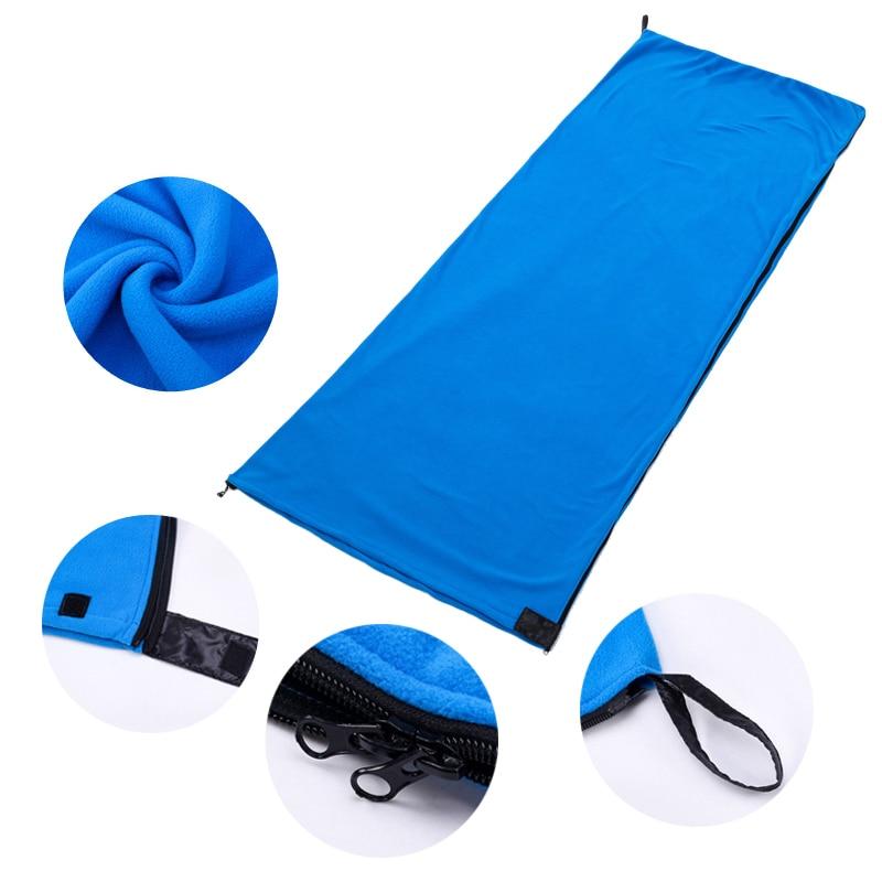 Vertvie Fleece Sleeping Bag Portable Outdoor Sleeping Bag Camping Travel Warm Ultralight Sleeping Bag Liner Camping Accessories