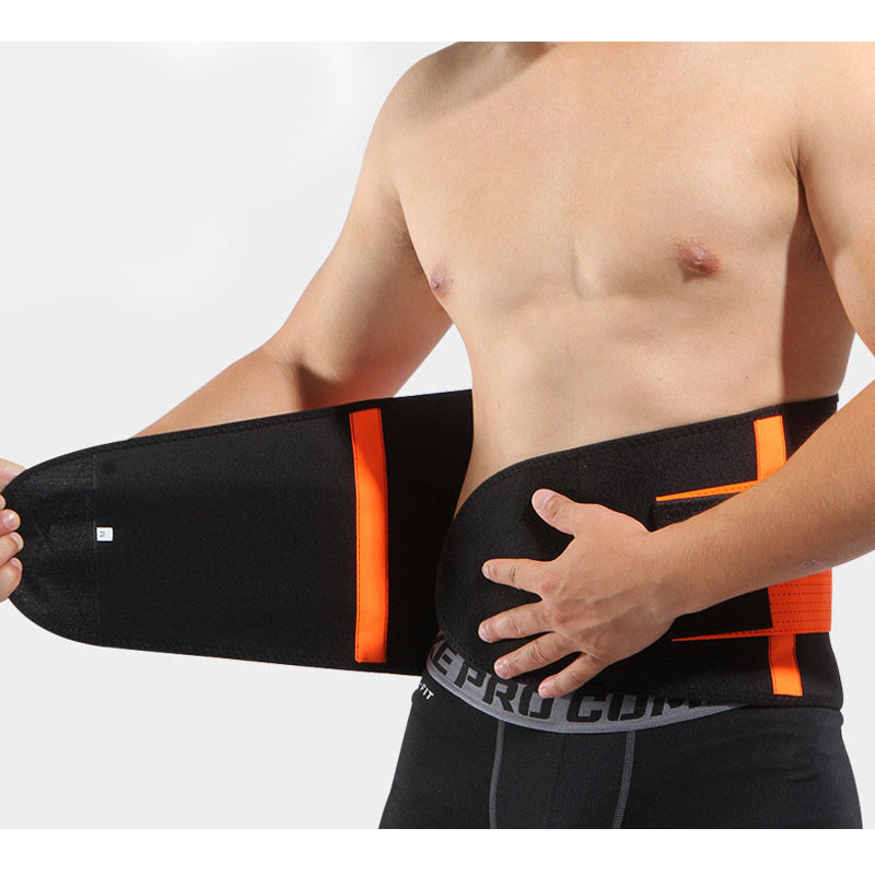 Waist Support Belt Back Waist Trimmer Belt Gym Train Waist Protector Weight Loss Sports Muscle Compression Body Shaper(China)