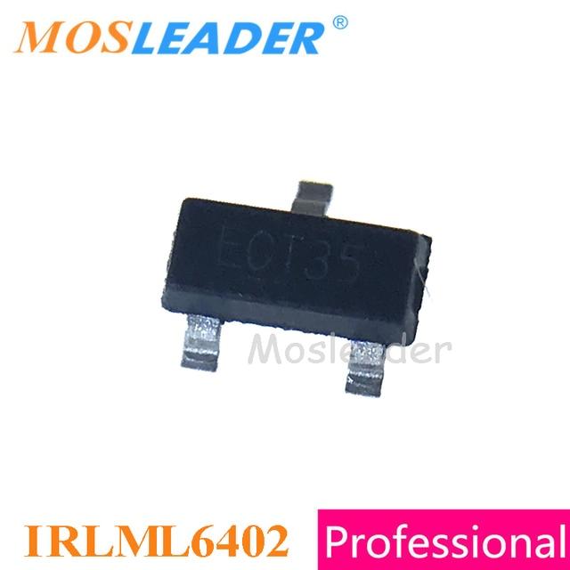 Mosleader IRLML6402 SOT23 3000 pièces 20V à Canal P Rds = 65mR 100mR IRLML6402TRPBF IRLML6402TR IRLML6402PBF Chinois De Haute qualité